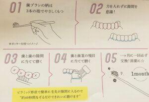 奇跡の歯ブラシの使い方のコツ