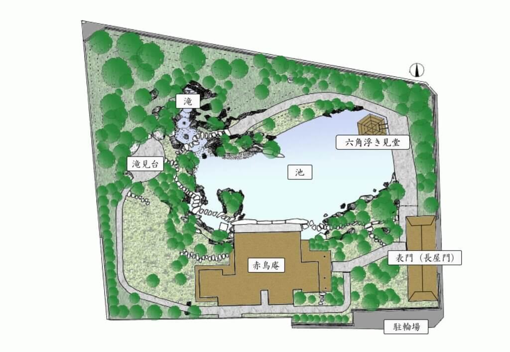 目白庭園のマップ